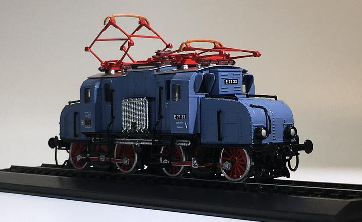Special offer is rare 1:87 E 7133 (1921) Simulation of Static Finished Train Model Tram Model Collection(China)