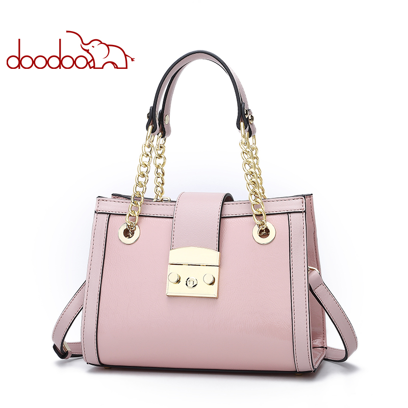 Doodoo New Luxury Patent Leather Tote Bag Handbags Women Famous Brands Lady's Lacquered Bag Handbag for Women Shoulder Bag Sac neverout oil wax style split leather bag for women vintage boston bag shoulder sac 3 color handbags tote zipper tote new handbag