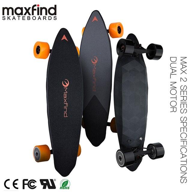 Maxfind لوح التزلج الكهربائي المزود بأربع عجلات ماكس 2 ، لاسلكية تحكم عن بعد الكهربائية لوح التزلج Longboard Hoverboard الدراجة الاحادية