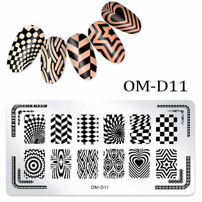 1x Cute Emoji Design Nail Stencils For Nails Nail Art Stamping Plates  Stainless Steel Stamp Polish Template Plates OM-D07