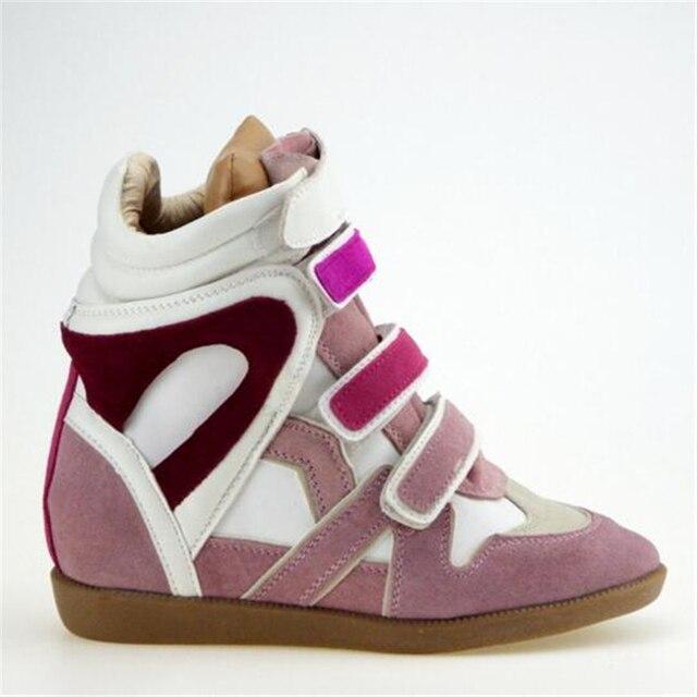 Isabel Обувь Из Натуральной Кожи для Женщин Высота Увеличение Дышащий Туфли На Платформе Бобби Весна Зима Дамы Повседневная Обувь Сапоги