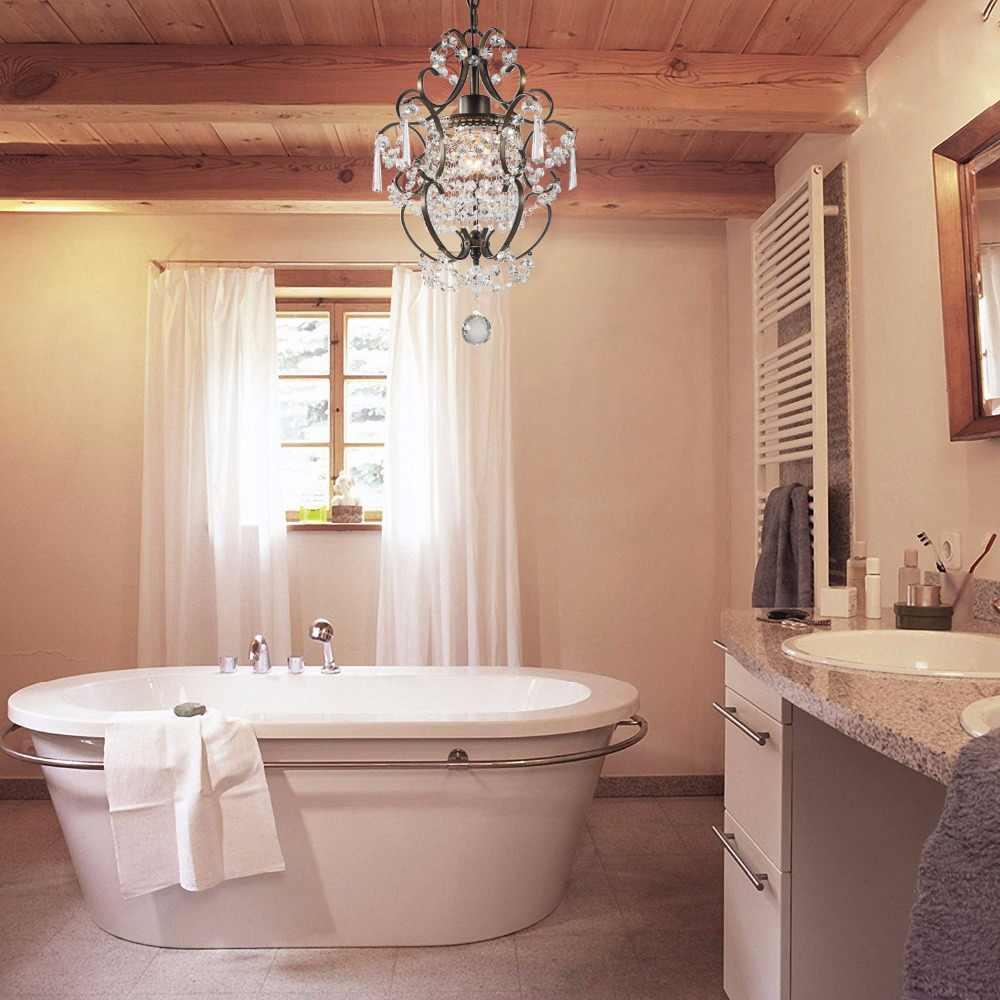 Ganeed Modern Crystal Chandeliers, Small Chandelier,Ceiling Lights Fixture  for Living Room Bedroom Restaurant