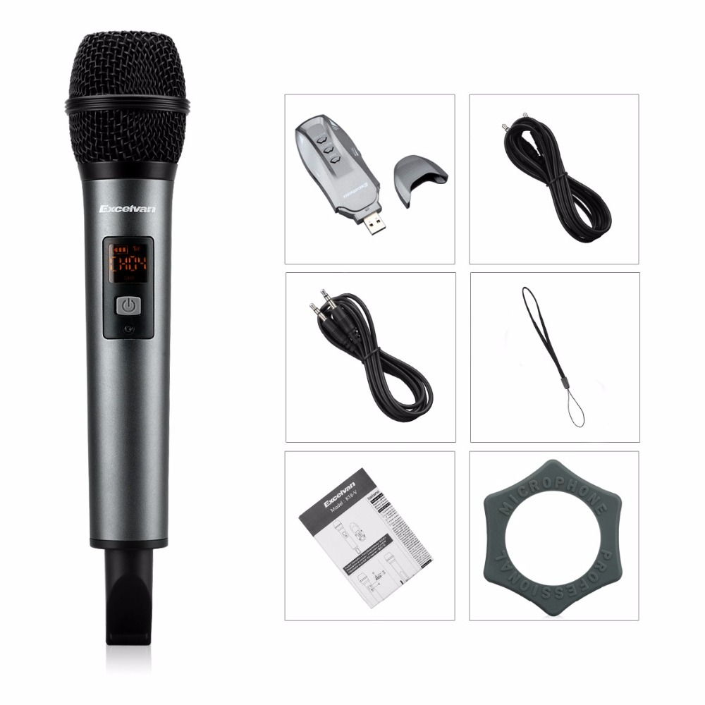 US $39 99 |Excelvan K18V Bluetooth Microphone Wireless with Receptor  Support APP For Home Entertainment Conference Education Training Bar-in