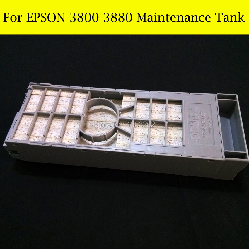 1 PC NEW And Original Waste/Maintenance Ink Tank For Epson Stylus Pro 3800 3880 3890 3800C Printer 1 pc waste ink tank for epson sure color t3070 t5070 t7070 t5000 t3000 printer maintenance tank box