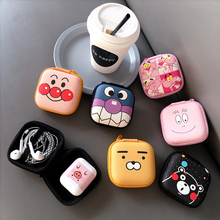 Cartoon Cute Mini Zipper Hard Headphone Case Portable Earbuds Pouch box Earphone Case Storage Bag Protective USB Cable Organizer цена и фото