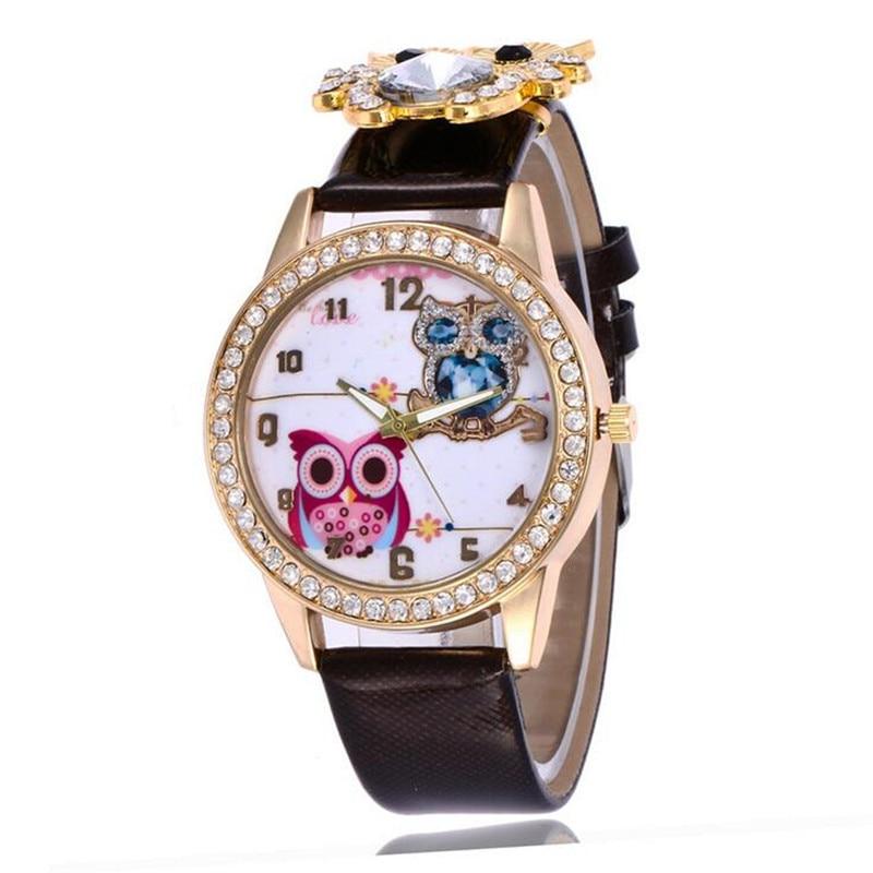 New Women's Watch Classic Owl Pattern Strap Owl Wrap Bracelet Watch 4