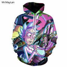 Hiphop Cartoon Funny Ricky and Morty 3D Print Hipster Hoodies Men/Women Streetwear Pullover Pocket Sweatshirt Boys Coat Jacket цена