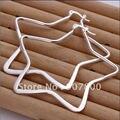 E151 diseño precioso regalo de cumpleaños de la joyería pendientes de aro de plata del partido de la manera pentagram para una calidad Superior de la mujer