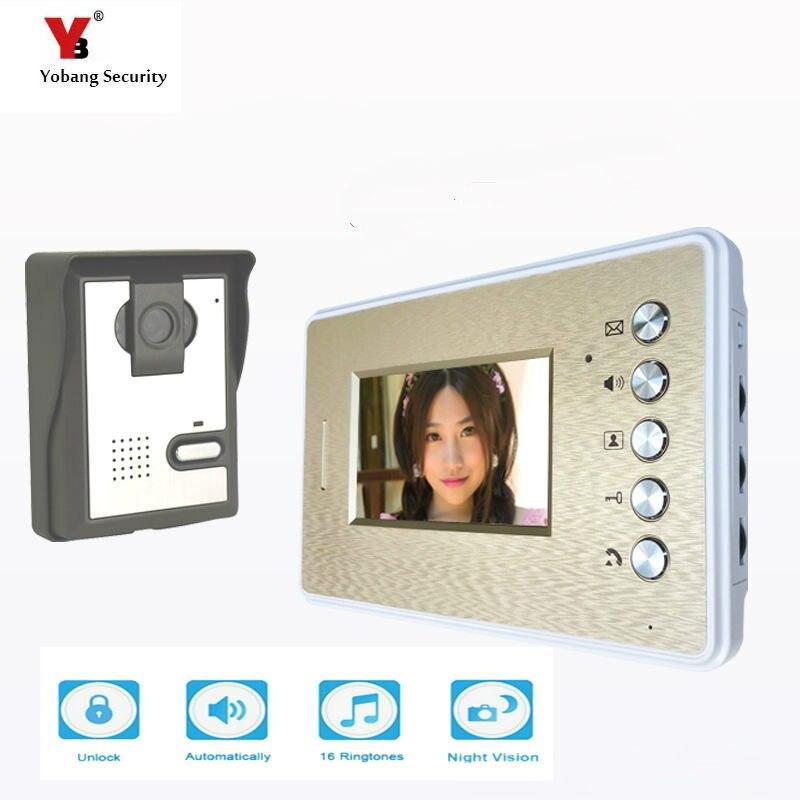 Yobang Security 4.3 Color Video Door Phone System Unit Doorbell Intercom System Interphone Doorphone Home Intercom System system security through log analysis