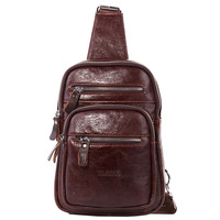 Brand Genuine Leather Casual Chest Pack Sling Bag Men's Cross Body Shoulder Bags Male Cowhide Messenger Bag For Ipad Mini Wallet