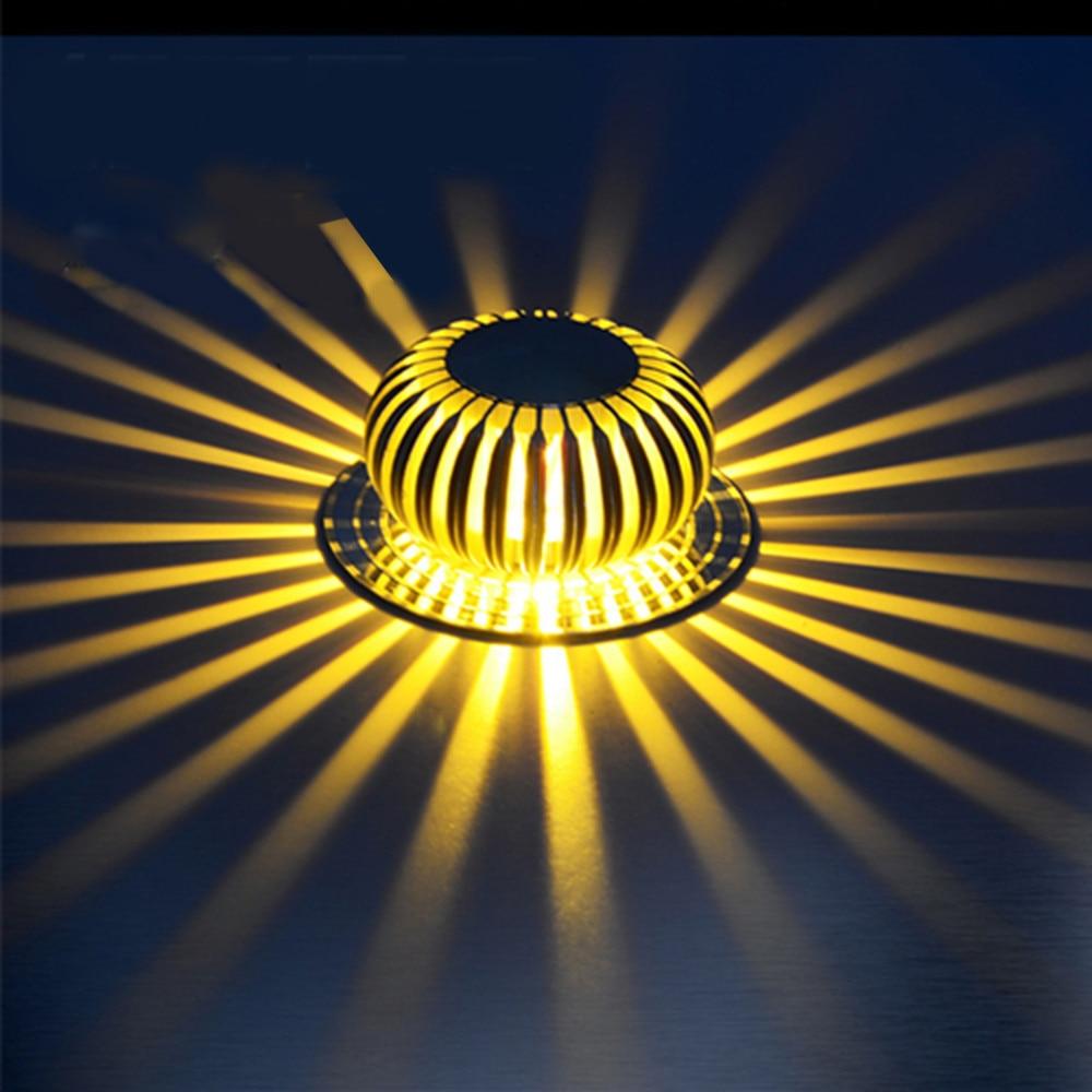 3 w rgb conduziu a luz de teto lampada do teto embutido de espalhamento de luz