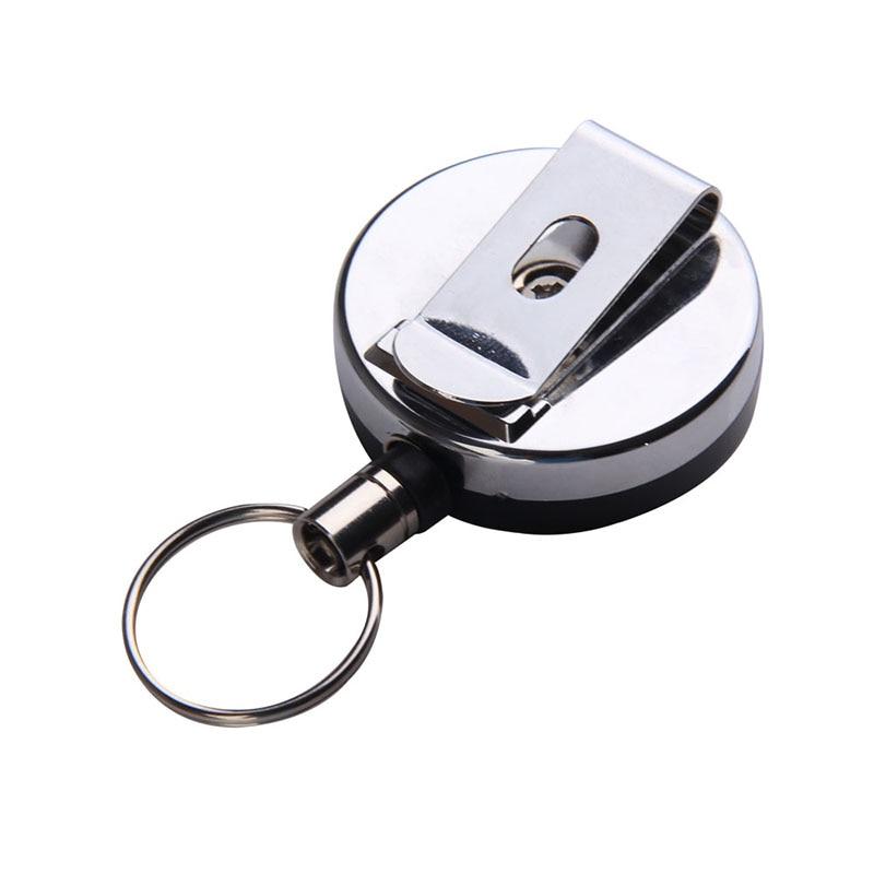 Mada Raktų pakabukai vyrams Mini lauko saugos sagtis Įtraukiama virvė Chaveiro Apsaugos nuo raktų pakabuko raktų pakabukas Raktų laikiklis SL