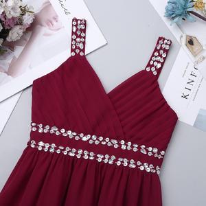 Image 4 - Шифоновое платье с V образным вырезом и блестками