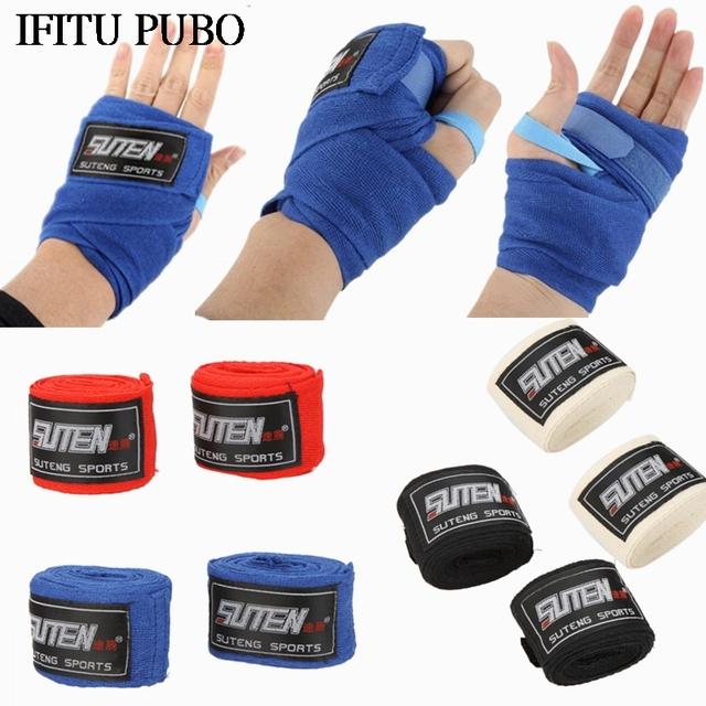 1pc roll Width 5cm Length 2.5M 100% Cotton Sports Strap Sanda Muay Thai MMA Taekwondo Boxing Bandage Hand Wraps WYQ