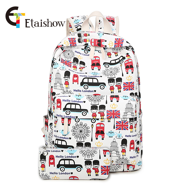 London soldier Lovely soldiers shoulder bag school bags for teenage girls women backpack Canvas Schoolbags for Teenage 2017 NEW купить