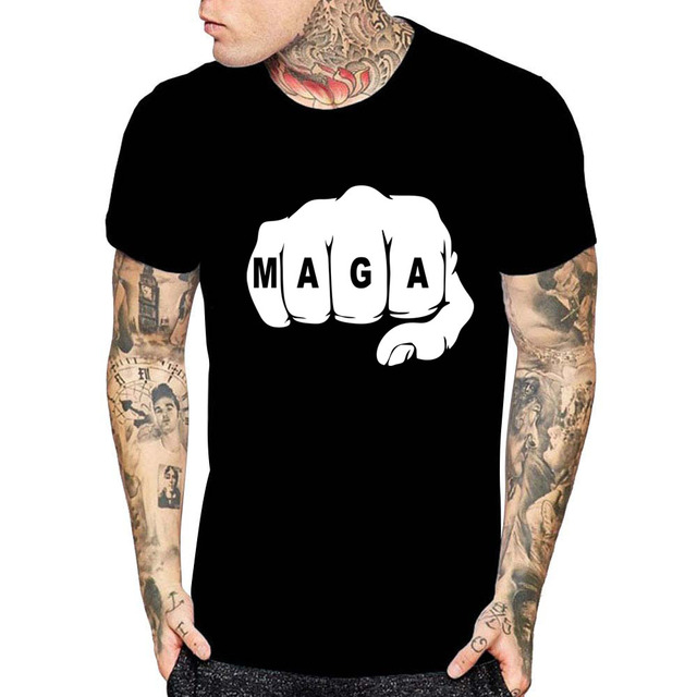 22add709 MAGA Fist T-Shirt - Make America Great Again Trump Republican Men Women  Kids Tee Custom Dropshipping free tshirt homme brand top