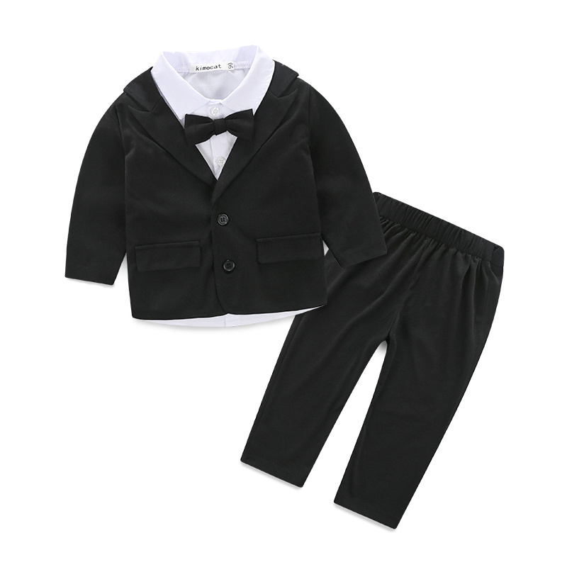 Winter baby font b boy b font clothes 3 pcs gentleman coat T shirt font b