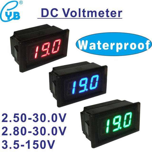 YB28 W DC 2.5 30V Two Wires LED Digital motorcycle mini Waterproof Wiring Voltmeter To Motorcycle on motorcycle voltage regulator, motorcycle valve spring compressor, motorcycle air conditioning, motorcycle ignition box, motorcycle switch, motorcycle rear hugger, motorcycle torque wrench, motorcycle traction control, motorcycle illumination lights, motorcycle lamp, motorcycle speed control, motorcycle gas meter, motorcycle multimeter, motorcycle electronic tachometer, motorcycle trickle charger, motorcycle key, motorcycle terminal board, motorcycle skid plates, motorcycle generator, motorcycle stopwatch,
