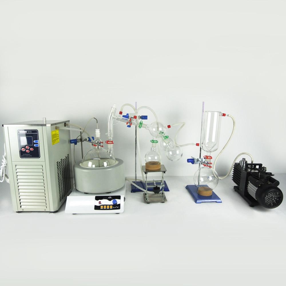 Купить с кэшбэком USA Hot Scale Small Short Path Distillation Equipment 5L Short Path Distillation With Stirring Heating Mantle Include Cold trap