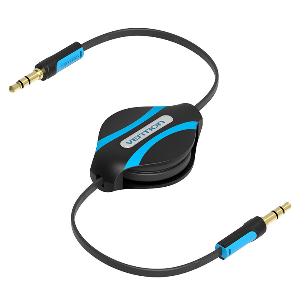 HDMI cable HDMI Vention 3.5mm Jack Male To Male Flexible Retractable Stereo Aux Audio Cable Cord  0508-in Computer Cables & Connectors from Computer & Office