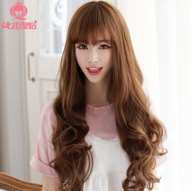 Jumbo Queen Seven Streets Wig Long Curly Hair Fashion Korean Series