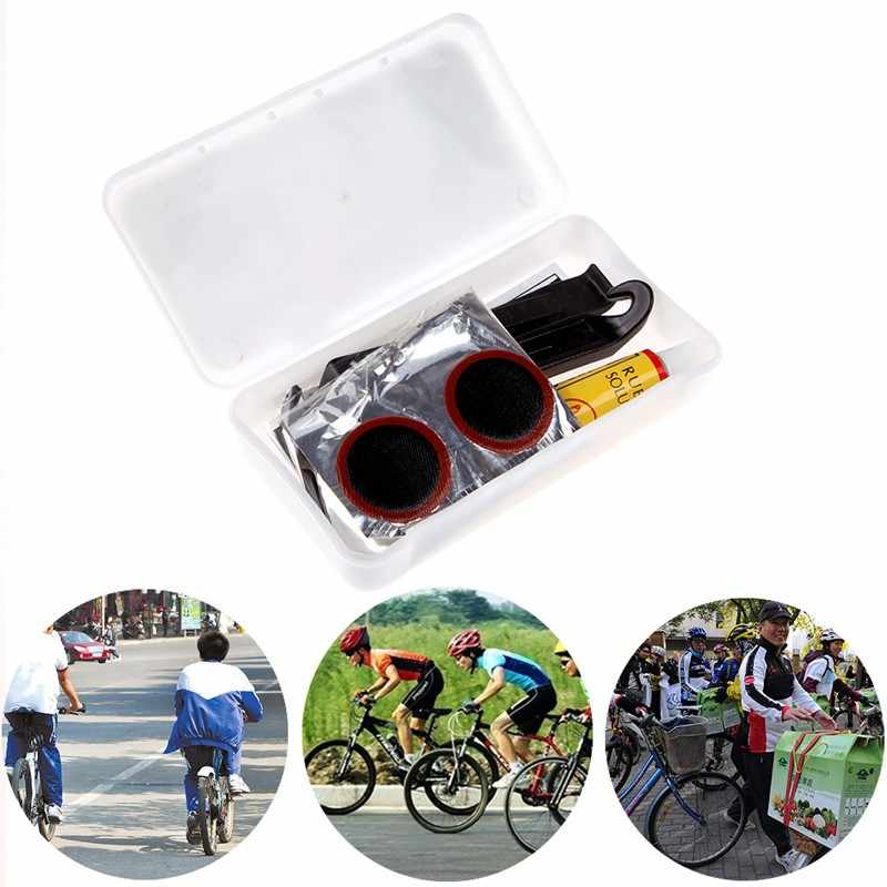 Portable Bicycle Tire Repair Kit Bike Patch Rubber Cycling CL Equipment O1A7