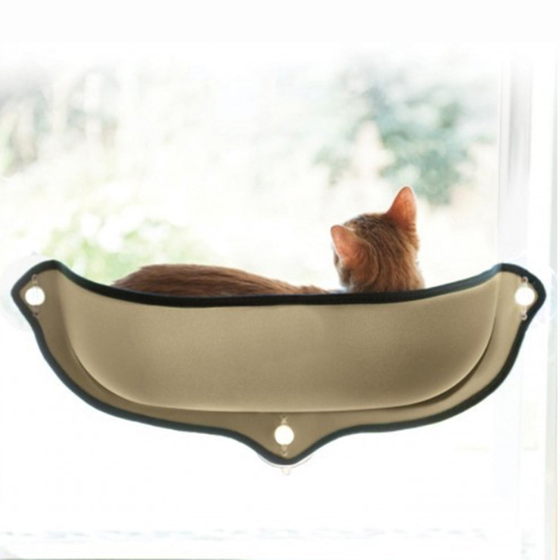 Cat Window Bed Mounted Pot Bed Hammock Mat Cat Lounger Perch Cushion Hanging Shelf Seat With