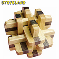 UTOYSLAND New Two-color 12 Locks Wooden Puzzle Cube/Educational Toy Kong Ming/Luban Lock for Adult Children