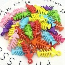 Meideheng Acrylic plastic jelly candy color DIY Creative interesting fishbone Beads for Jewelry making Handmade 15x34mm 30pcs