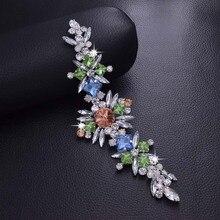 DIY 2 шт очень красивый яркий камень горный хрусталь нашивки аппликация пришить качество свадебное платье пояс Кушак аксессуары для одежды HD-983