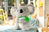 about 22cm gray koala plush toy leaf koala soft doll baby toy birthday gift s0981