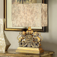 Modern A pair of lions Table Lamps Fashion Bedroom Bedside Lamp E27 Holder Reading Desk Lights abajur para quarto
