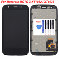 For Motorola MOTO G XT1032 / XT1033 LCD Display touch Screen Digitizer with Bezel Frame Assembly + Free Tools ,Black replacement