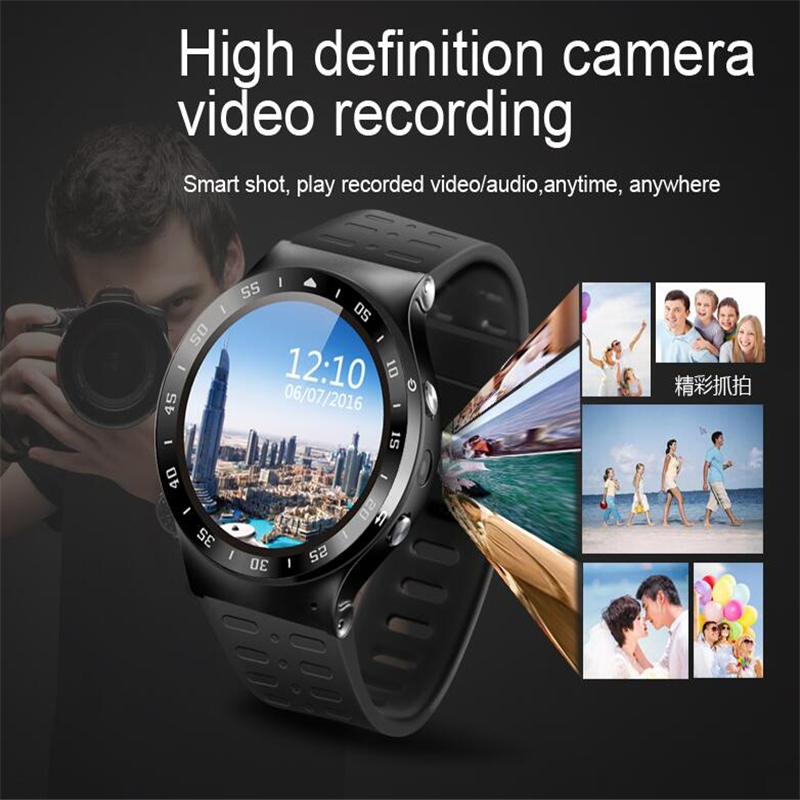 (In Stock) ZGPAX S99A 3G Smart Watch Android 5.1 2.0MP Cam GPS WiFi Pedometer Heart Rate 3G Smartwatch PK KW88 No.1 D5 X3 Plus no 1 d5 android 5 1 3g smartwatch phone silver