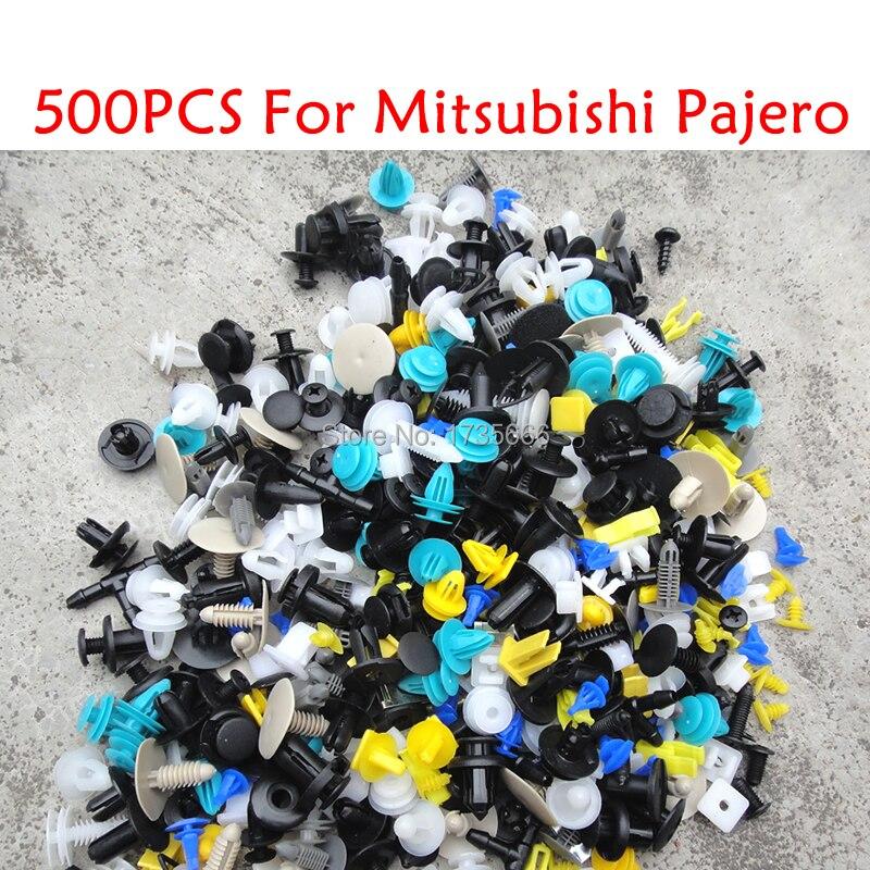 500 unids para Mitsubishi Pajero Mini Rvr Montero Sport Outlander Space Star Mirage Montero coche mixto Auto parachoques retenedor