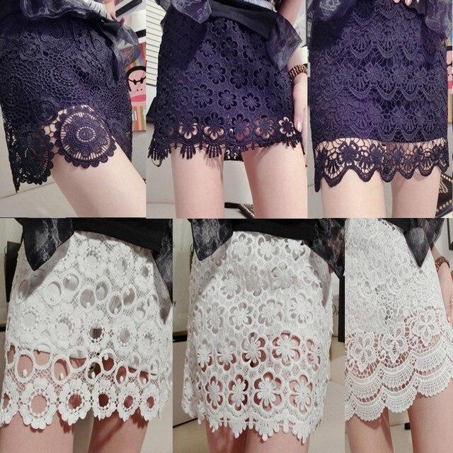2015 moda de encaje para mujer faldas femeninas corto mini jupe 17 ...