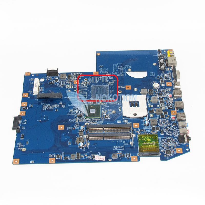 NOKOTION MBPLY01001 MB.PLY01.001 Laptop Motherboard For Acer aspire 7740 PC Main Board 48.4GC01.011 HM55 DDR3 Mainboard nokotion je40 cp mb for acer aspire 4741 4741g laptop motherboard 48 4gy02 051 hm55 ddr3 gt540m