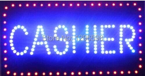 2017 hot sale custom 10x19 Inch Semi-outdoor Ultra Bright running cashier led sign