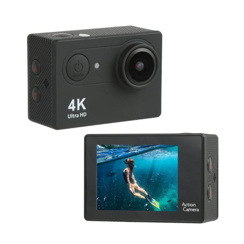 UHD 4K 170 degree Wide Angle WiFi Lens APP Control 12.0MP Mountings Kits Action Camera