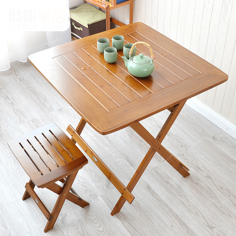 Leisure table folding table portable folding table to eat bamboo simplicitysideof small folding table furniture products цена 2017