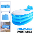 Bañera de baño inflable grande doble adultos portátil de PVC bañera de plástico para acampar en casa plegable con tubo de cojín SPA