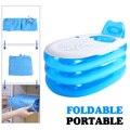 Große Aufblasbare Badewanne Doppel Erwachsene Tragbare PVC Kunststoff Badewanne Home Camping Reise Folding Mit Kissen Rohr SPA