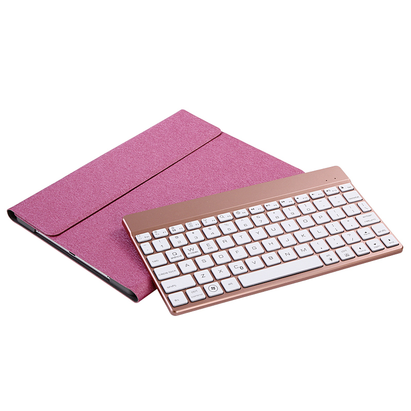 For iPad 5 iPad 6 Ultra thin Removable Wireless Bluetooth Keyboard Case Cover with 7-Color Backlit For iPad Air/ iPad Air 2