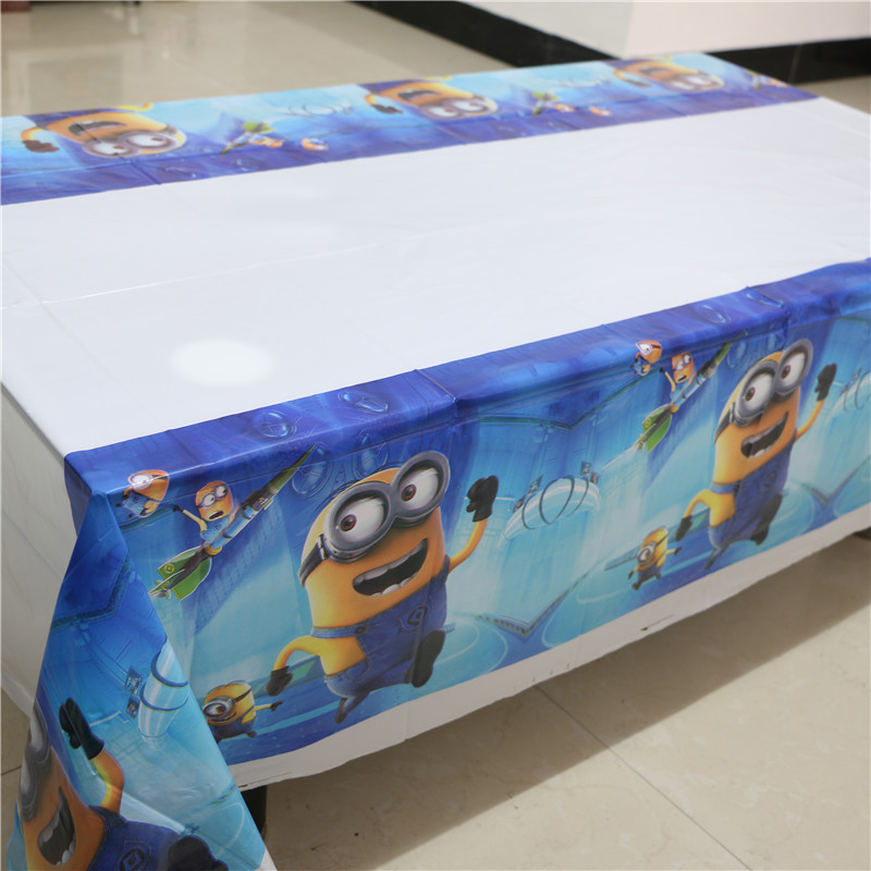 Merveilleux 108cm Disposable Birthday Tablecloth Cartoon Minions Kids Happy Birthday  Party Plastic Tablecover Despicable Me Boy Supplies In Disposable Party  Tableware ...
