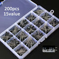 200Pcs/box 15 Value Electrolytic Capacitor Assortment Box Kit Free Shipping