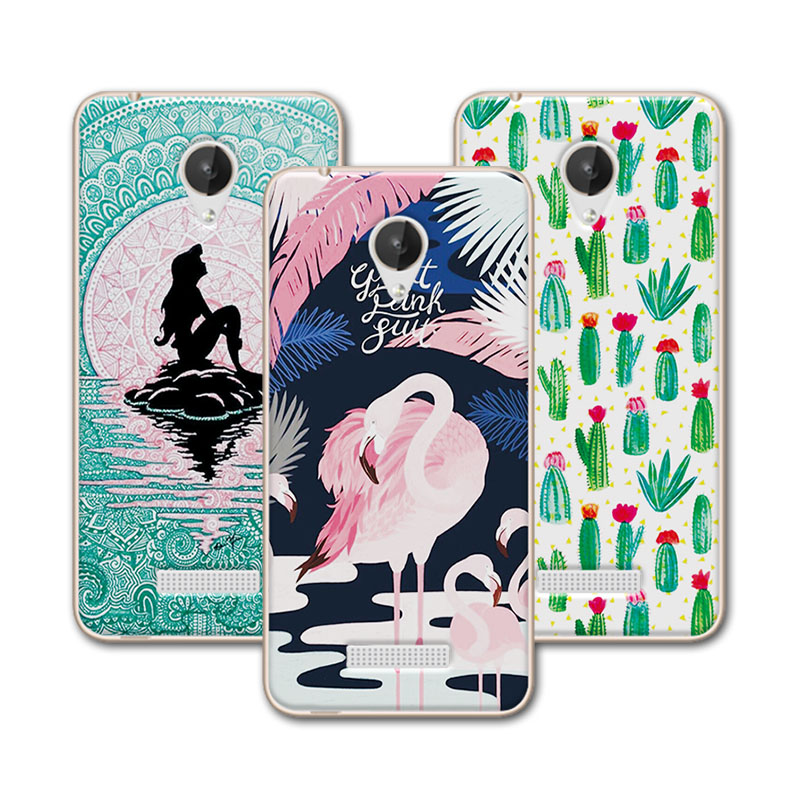 For Micromax Q380 Case Cover For Micromax Q 380 4.7 inch Mermaid Painting Soft TPU Phone Case For Micromax Canvas Spark Q380