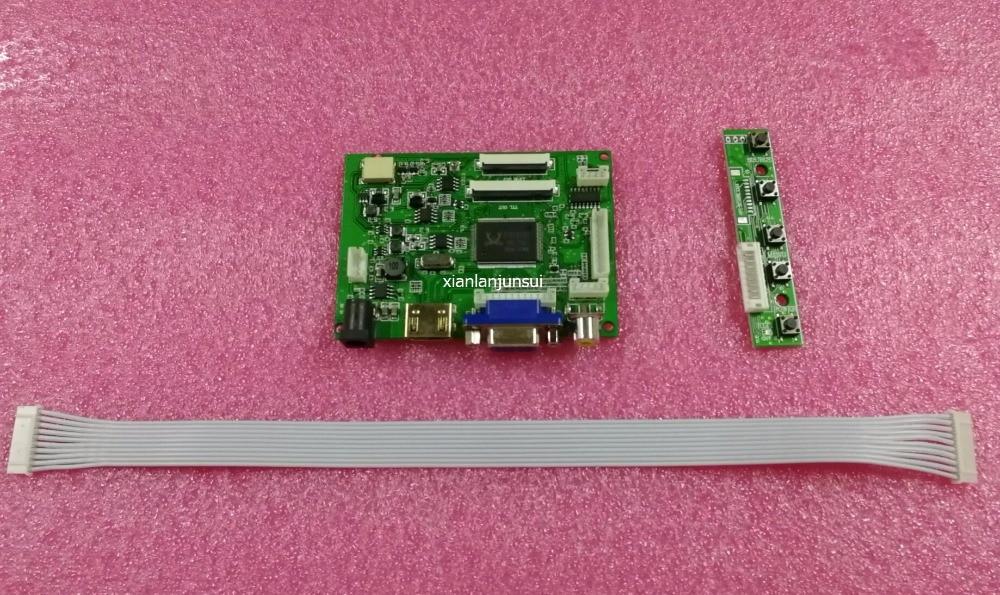 Audio + HDMI + VGA + 2AV 6.2. 7 pouces 8 pouces 60pin 800*480 LCD Display Driver conseil Contrôleur Kit pour Panneau HSD062IDW1 HSD080IDW1