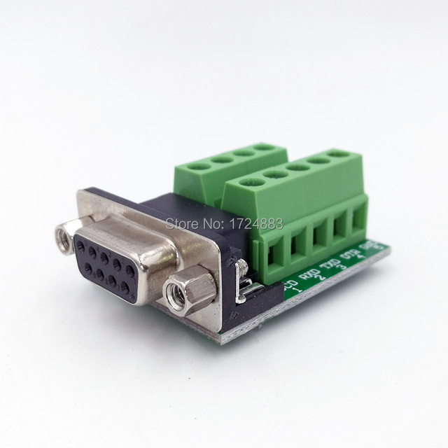 US $0 56 |DB9 Adapter RS232 Serial Signals Terminal Module Interface  Converter To Terminal DB9 Connector Male Female D sub-in Connectors from  Lights &