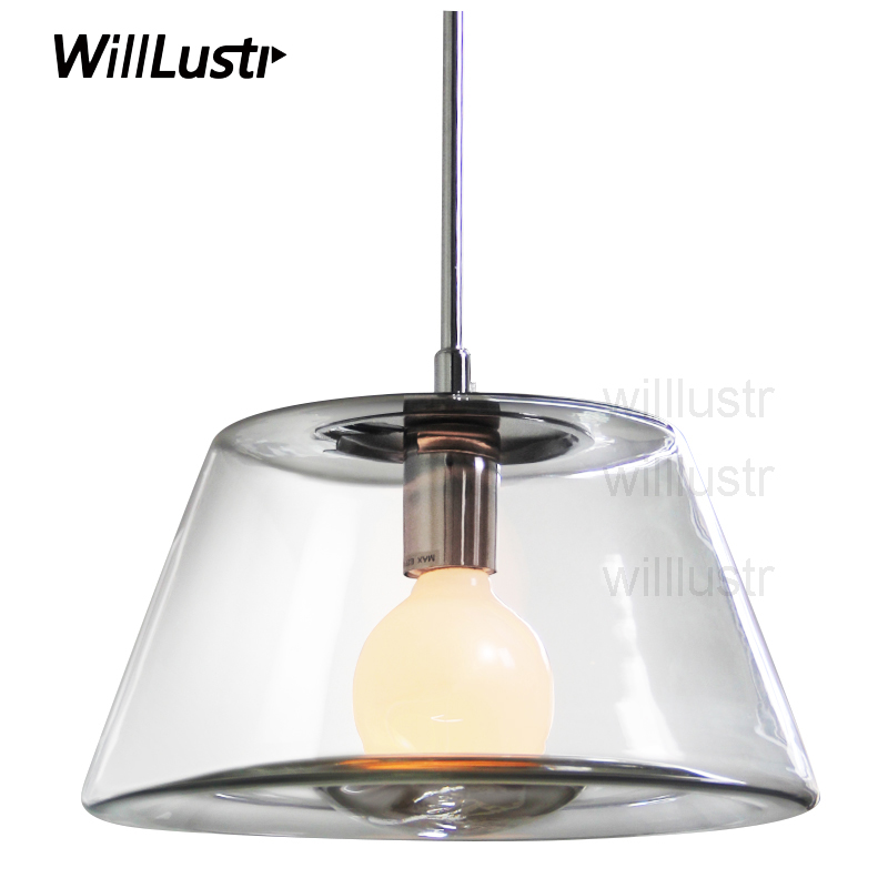 Willlustr clear glass shade crystal hanging lighting volcano pendant lamp rest room restaurant loft Bar hotel suspension Light 3 led bulbs l24 x w8 x h23 6 crystal chandelier pendant lamp raindrop hanging suspension light lighting