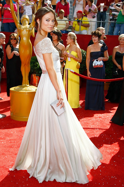 Olivia Wilde Oscar Dresses Stylish Beaded Cap Sleeves Chiffon Floor Length Long Celebrity Red Carpet Dress 2017 Evening Gowns In Inspired